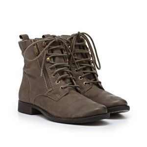 [Sam Edelman] Olive Leather Lace Up Combat Boots